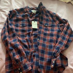 Men's XL Lucky Brand Flannel Buttondown